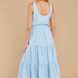 NEW Caution to the Wind Blue Ribbed Maxi Dress